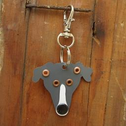 Greyhound Metal Rivet Tag/Keychain